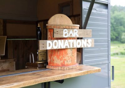 Horsebox Bar Donations Box